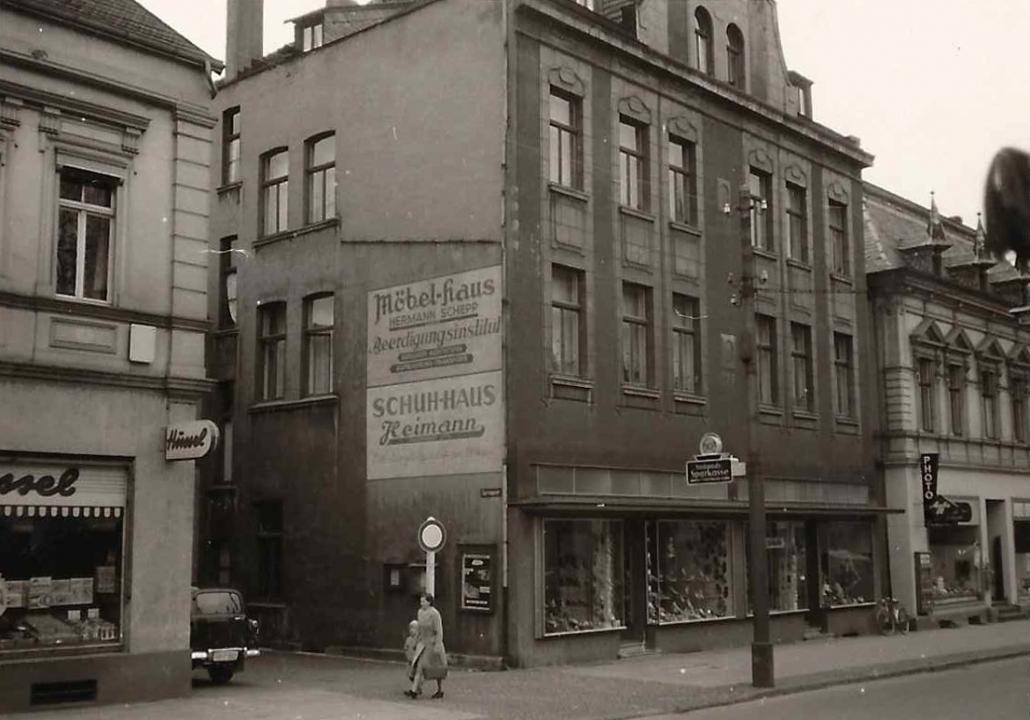Schuhhause Heimann in 1957