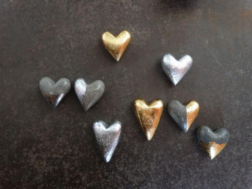 Schwarze, Silberne und Goldene Herzen