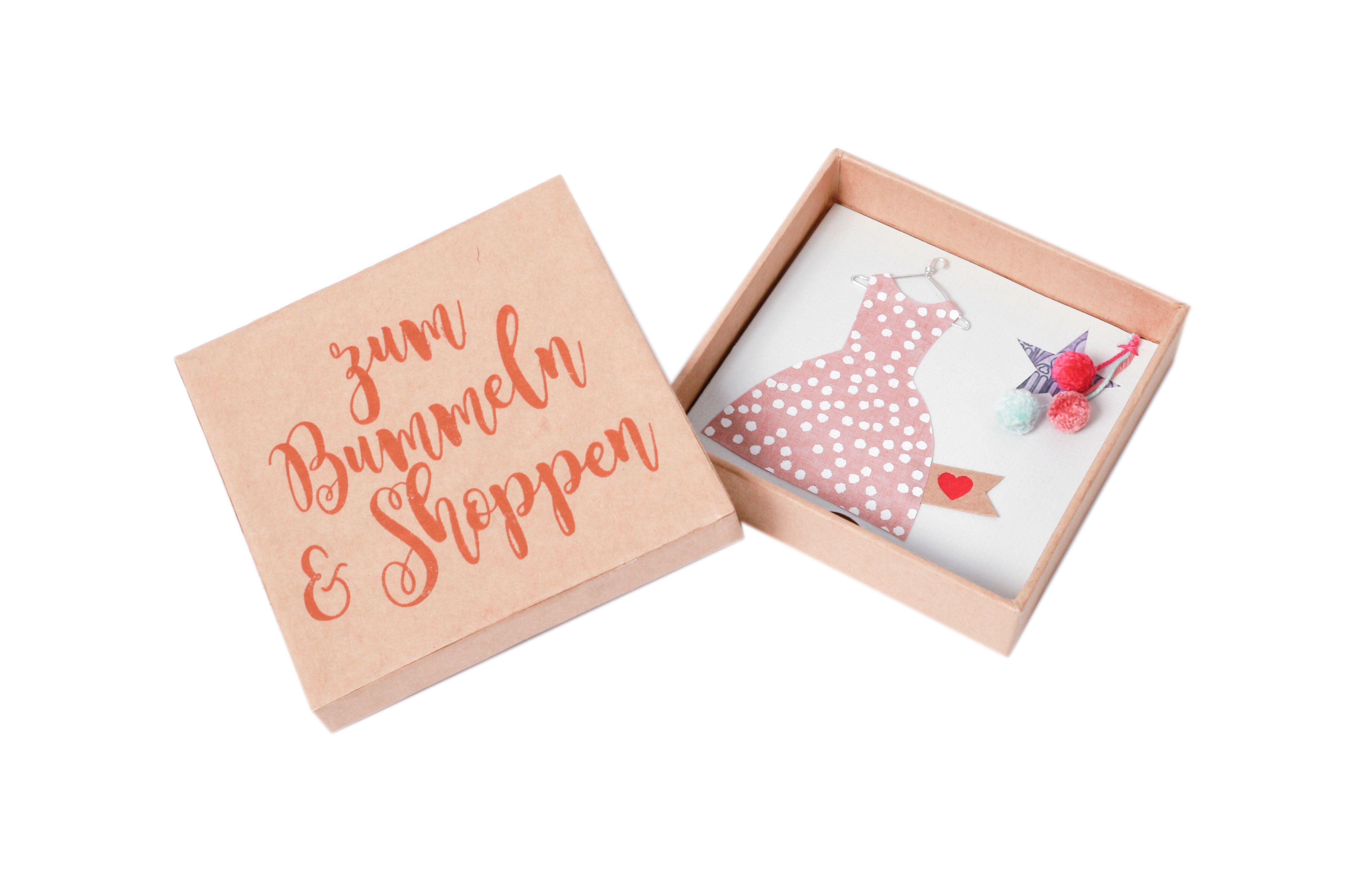 Geschenkebox zum Bummeln und Shoppen